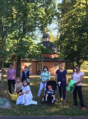 Zonta Club Nürnberg Area  Treffen am Ginkgobaum   05. August 2020